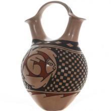 Mata Ortiz Wedding Vase Polychrome Fish By Gris Camacho