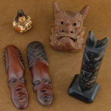 World Tribes Wood Carvings Souvenirs Set of Carvings