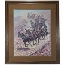 Twenty Mules of Death Valley Framed Print by Joe Grandee