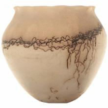 Horse Hair Wide Mouth Pottery By Natalie Jetter