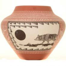 Acoma Large Pottery Jar By Robin and Michael Romero