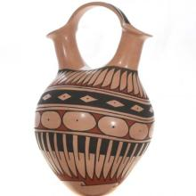 Polychrome Wedding Vase Mata Ortiz Ceremonial Pottery