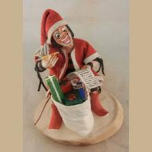 Navajo Koshare Santa Kachina by Bertha Wood -
