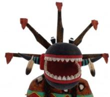 Hopi Nataska or Ogre Kachina Doll by Derrick Hayah