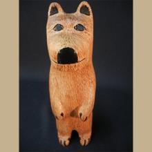 Zuni Wood Carved Standing Bear Fetish by Alan Lewis -