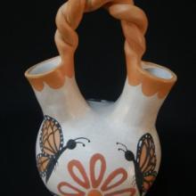 Acoma Mid-Size Wedding Vase by Ed Lewis - Artist: Ed Lewis