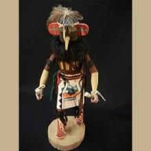 Navajo Roadrunner Kachina by Unknown Artist - Artist: Unknown