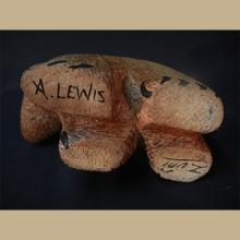 Zuni Wood Carved Solo Bear by Alan Lewis - Artist: Alan Lewis