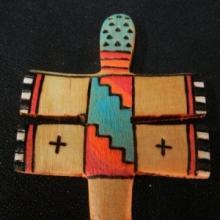 Zuni Wooden Dragonfly Fetish by Alan Lewis - Artist: Alan Lewis