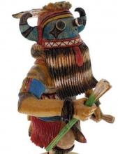 Hopi Tungwup Or Whippers Uncle Kachina Doll Keith Torres