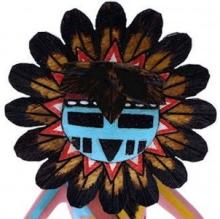 Hopi Tawa or Sun Kachina Doll Native American Ron Duwyenie