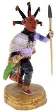 Hopi Warrior Mudhead Kachina Doll Native American Keith Torres