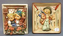 TWO HUMMEL WALL PLAQUES