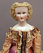 GERMAN CHINA SHOULDER HEAD DOLL
