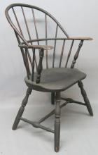 18TH C. SACK-BACK WINDSOR ARMCHAIR IN PAINT