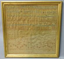HANDWROUGHT SCHOOLGIRL SAMPLER - HELEN ASHTON 1817