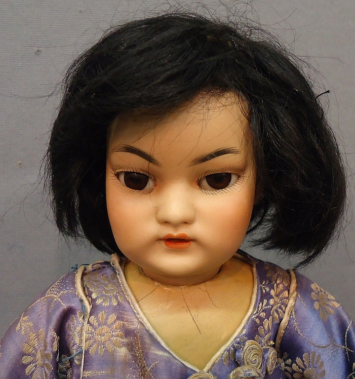 SIMON & HALBIG ASIAN BISQUE HEAD DOLL