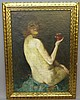 HENRY MORTECAI ROSENBERG (ATTR.) OIL OF A NUDE, Henry Mortikar Rosenberg, Click for value