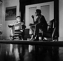 Ed Ruscha talking with Walter Hopps at Walter's House, 1962/2006