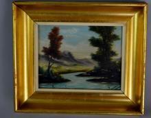 Miniature Landscape Oil on Board