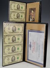 World Reserve Monetary Exchange Uncut $5 Bills