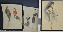 Vintage Fashion Watercolor Grouping