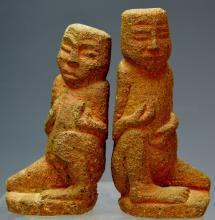 Pair of Nias Stone Figures