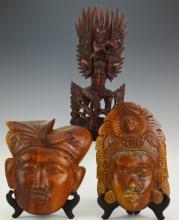 Balinese Wood Carving Grouping
