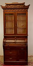 Eastlake Victorian Cylinder Roll Desk 19TH Century