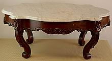 Victorian Turtle Top Coffee Table 19Th Century