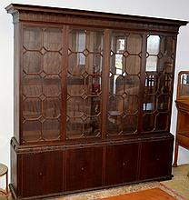 Mahogany Chippendale Breakfront