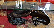 Mid Century Style Nude Woman Coffee Table