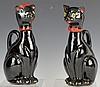 Shafford Japanese Porcelain Black Cat Cruet Pair