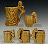 Risque Pottery Bar Ware Grouping