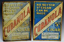 Early Cigar Advertising Sign Grouping