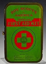Early Boy Scouts Belt Held First Aid Kit