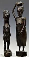 Massai Carved Ebony Statue Grouping