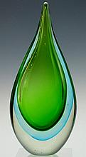 Heavy Glass Tear Drop Design Accent Piece
