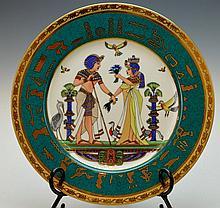 Heavy EgyptAir Limoges Royal Porcelain Complimentary Commemorative Plate