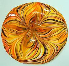 Art Glass Bowl, Autumn Shades