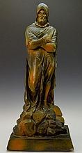 Spanish Conquistador Chalkware Sculpture