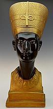 Nefertiti Egyptian Queen Chalkware Bust