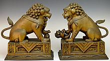 Pair of Highly Detailed Foo Dogs