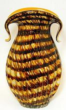 Italian Art Glass Decorative Tall Vase