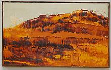 Mid Century Oil on Canvas Kery