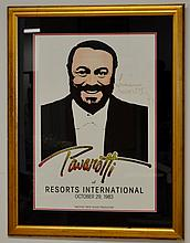 Signed Luciano Pavarotti Poster