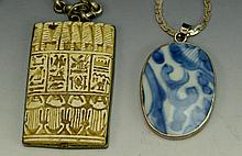 Egyptian and Chinese Necklace Grouping
