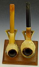 Carved Tobacco Pipe Grouping