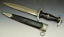 German WWII SS Dagger with Sheath
