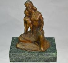 Bronze of Madonna and Child